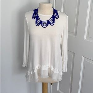 White tunic from Anthropologie